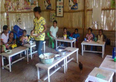 Rénovation d'un école petit en Indonesie